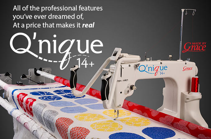Q'nique 14+ Quilting machine and Q'nique 14+ Frame